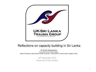Reflections on capacity building in Sri Lanka