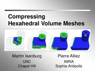 Compressing Hexahedral Volume Meshes
