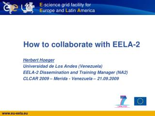 How to collaborate with EELA-2