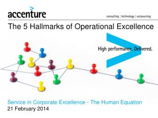 The 5 Hallmarks of Operational Excellence