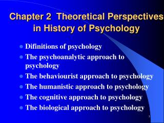 Chapter  2 Theoretical Perspectives in History of Psychology