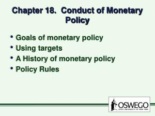 Chapter 18.  Conduct of Monetary Policy