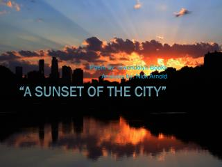 """A Sunset of the city"""