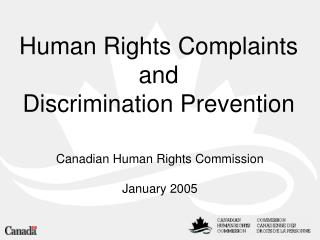 Human Rights Complaints and Discrimination Prevention
