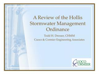 A Review of the Hollis Stormwater Management Ordinance