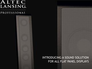 INTRODUCING A SOUND SOLUTION