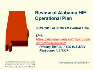 Review of Alabama HIE  Operational Plan