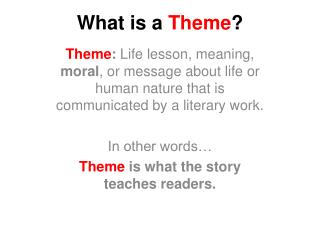 What is a  Theme ?