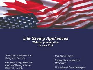 Life Saving Appliances Webinar presentation  January 2014