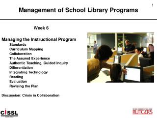 Management of School Library Programs
