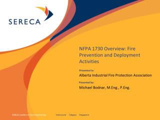 NFPA 1730 Overview: Fire Prevention and Deployment Activities