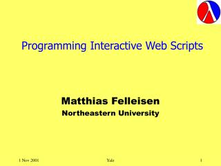 Programming Interactive Web Scripts