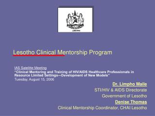 Lesotho Clinical Mentorship Program