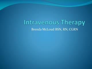 Intravenous Therapy