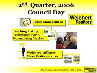 2 nd Quarter, 2006 Council Day