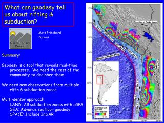 What can geodesy tell us about rifting & subduction?