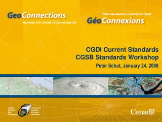 CGDI Current Standards CGSB Standards Workshop