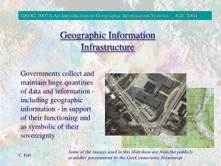 Geographic Information Infrastructure