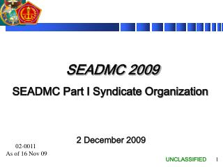 SEADMC 2009  SEADMC Part I Syndicate Organization