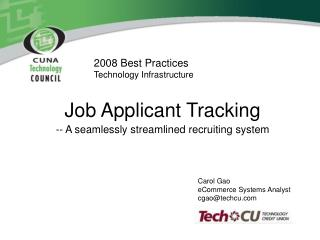 2008 Best Practices Technology Infrastructure