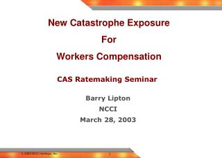 CAS Ratemaking Seminar