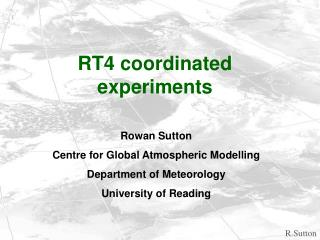 RT4 coordinated experiments