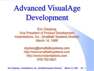 Advanced VisualAge Development