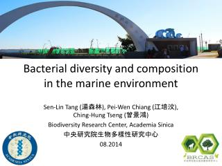 Bacterial diversity and composition in the  marine environment