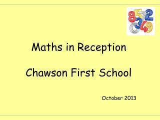 Maths in Reception Chawson First School