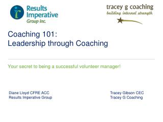Coaching 101:  Leadership through Coaching
