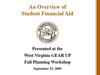 An Overview of Student Financial Aid
