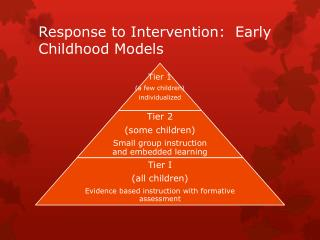 Response to Intervention:  Early Childhood Models