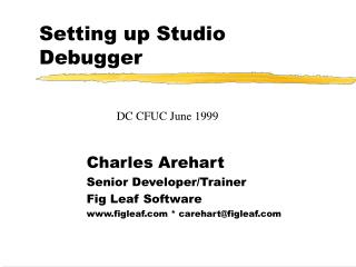 Setting up Studio Debugger