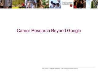 Career Research Beyond Google