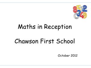 Maths in Reception Chawson First School