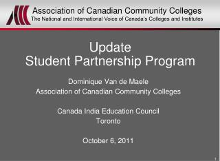 Update Student Partnership Program