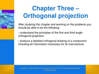 Chapter Three – Orthogonal projection