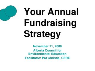 Your Annual Fundraising Strategy