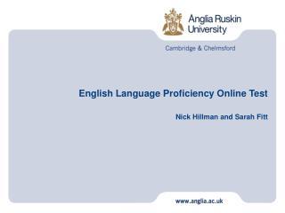 English Language Proficiency Online Test