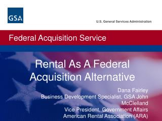 Rental As A Federal Acquisition Alternative