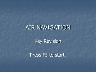 AIR NAVIGATION