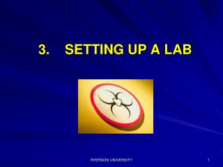 3.    SETTING UP A LAB