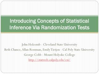 Introducing Concepts of Statistical Inference Via Randomization Tests