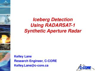 Iceberg Detection Using RADARSAT-1 Synthetic Aperture Radar