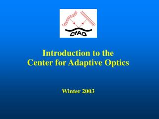 Introduction to the Center for Adaptive Optics