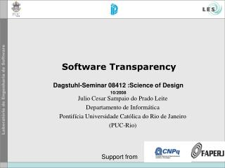 Software Transparency