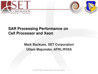 SAR Processing Performance on  Cell Processor and Xeon