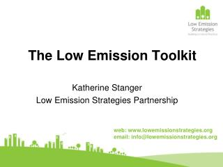 The Low Emission Toolkit