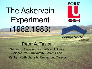 The Askervein Experiment (1982,1983)