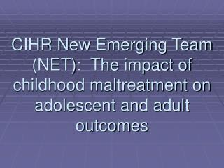 Child Maltreatment & Child Welfare Critical Issues